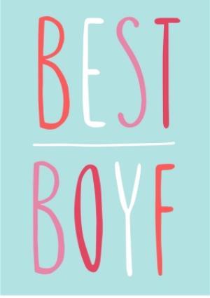 Greeting Cards - Best Boyf Blue Card - Image 1