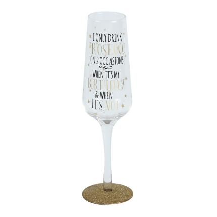 Gadgets & Novelties - Signography Sparkling Flute Glass Birthday Girl - Image 1