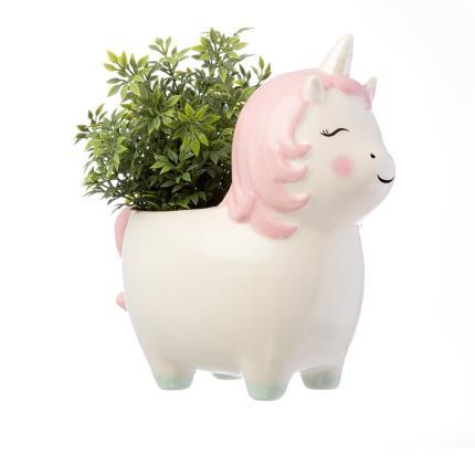 Gadgets & Novelties - Sass & Belle Pastel Pink Unicorn Plant Pot - Image 1