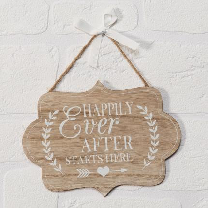 Gadgets & Novelties - Happily Ever After Starts Here Plaque - Image 2