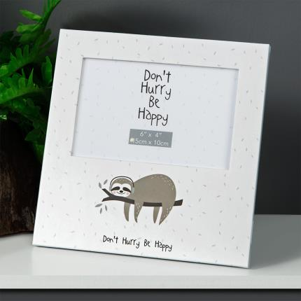 "Gadgets & Novelties - 6"" x 4"" - Animal Friends Sloth Photo Frame - Image 2"