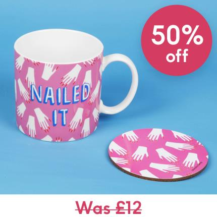 Gadgets & Novelties - Nailed It Mug & Coaster Set - Image 1