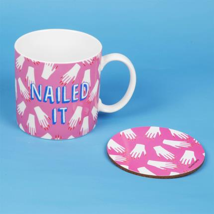 Gadgets & Novelties - Nailed It Mug & Coaster Set - Image 2