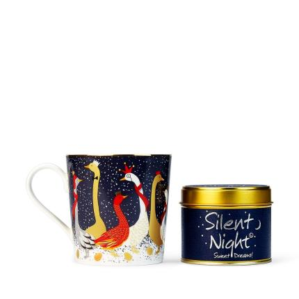 Gifts For Home - Festive Sara Miller Mug & Lily Flame 'Silent Night' Candle - Image 3