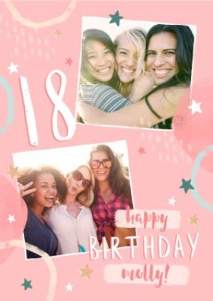 Greeting Cards - 18th Birthday Friend Photo Upload Card  - Image 1