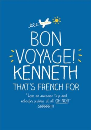 Greeting Cards - Have An Awesome Trip Personalised Bon Voyage Card - Image 1