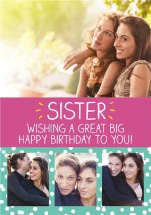 Greeting Cards - Birthday Card - Photo Upload - Sister - Happy Jackson - Image 1