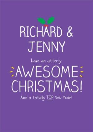 Greeting Cards - An Utterly Awesome Christmas Personalised Merry Christmas Card - Image 1