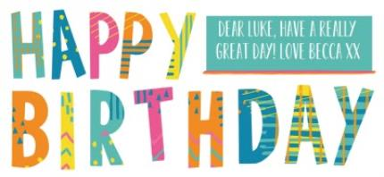 Mugs - Brightly Patterned Happy Birthday Custom Text Mug - Image 4