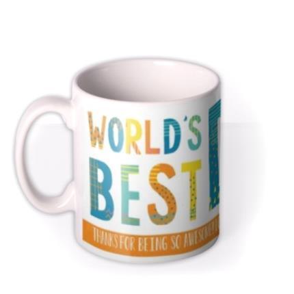 Mugs - Patterned World's Best Dad Custom Text Mug - Image 1