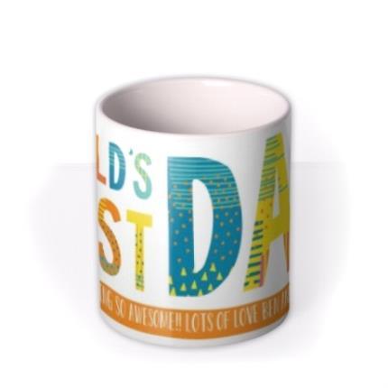 Mugs - Patterned World's Best Dad Custom Text Mug - Image 3