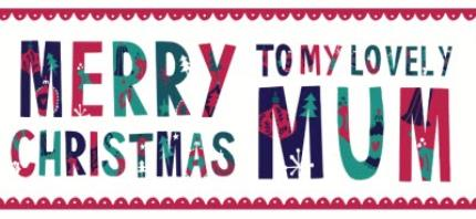 Mugs - Merry Christmas Lovely Mum Mug - Image 4