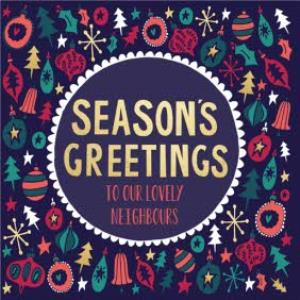 Greeting Cards - Hullabaloo Seasons Greetings Personalised Card - Image 1