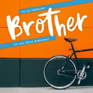 Greeting Cards - Bike Cruiser To An Awesome Brother Birthday Card - Image 1