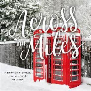 Greeting Cards - Across The Miles Snowy London Phone Booth Christmas Card - Image 1