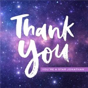 Thank You Card Stars The Galaxy Moonpig