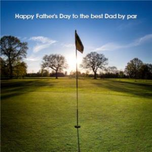 Greeting Cards - Best Dad By Par Funny Golf Card - Image 1