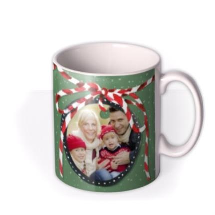 Mugs - Merry Christmas Cup of Cheer Photo Upload Mug - Image 2