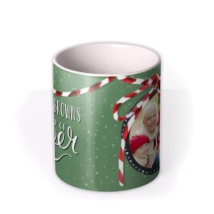 Mugs - Merry Christmas Cup of Cheer Photo Upload Mug - Image 3