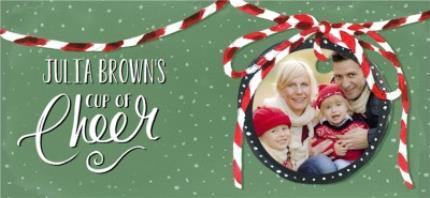Mugs - Merry Christmas Cup of Cheer Photo Upload Mug - Image 4