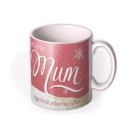 Mugs - Merry Christmas Mum Snowman Personalised Mug - Image 2