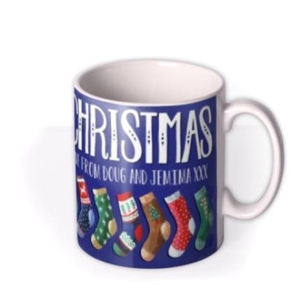 Mugs - Merry Christmas Socks Personalised Mug - Image 2