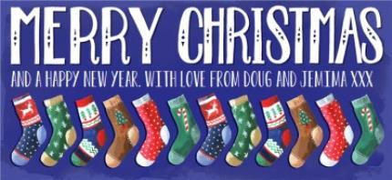 Mugs - Merry Christmas Socks Personalised Mug - Image 4