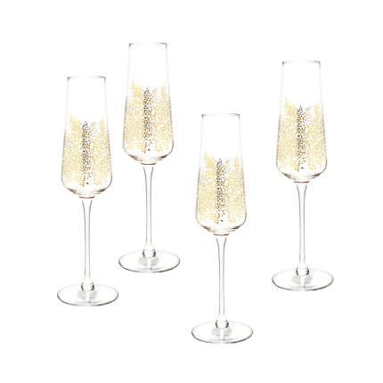 Gifts For Home - Sara Miller Gold Leaf Glass Set - Image 1