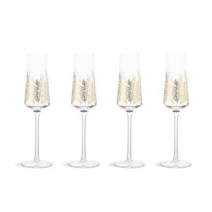 Gifts For Home - Sara Miller Gold Leaf Glass Set - Image 2