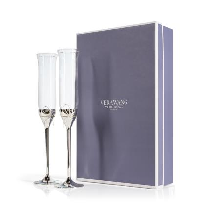Gifts For Home - Vera Wang Love Knots Toasting Flutes - Image 1