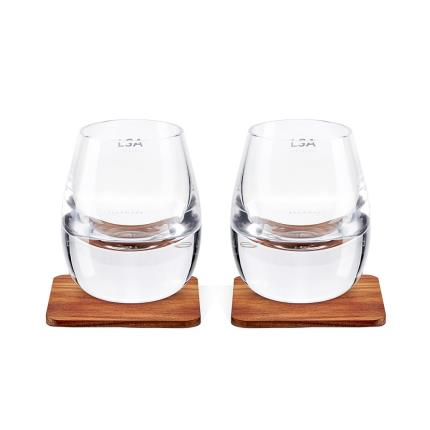 Gifts For Home - LSA Whisky Tumbler & Walnut Coaster Set - Image 1