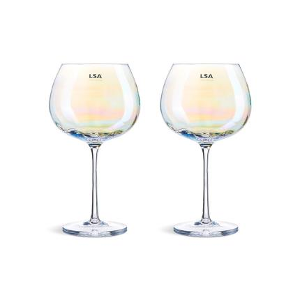 Gifts For Home - LSA Two Piece Pearl Goblet Gift Set - Image 1