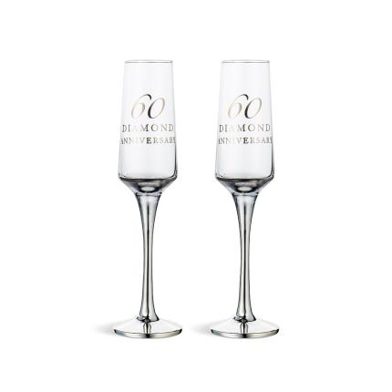Gifts For Home - 60th Anniversary Champagne Flute Gift Set - Image 1