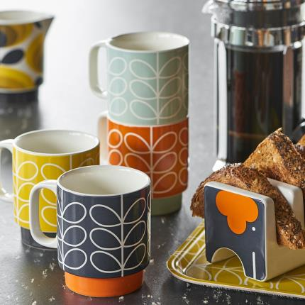 Gifts For Home - Orla Kiely Stacking Mugs - Image 1