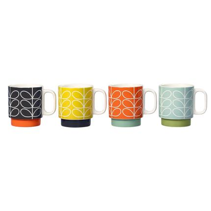 Gifts For Home - Orla Kiely Stacking Mugs - Image 2