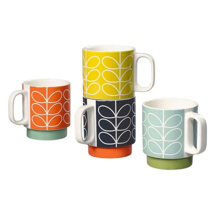 Gifts For Home - Orla Kiely Stacking Mugs - Image 3