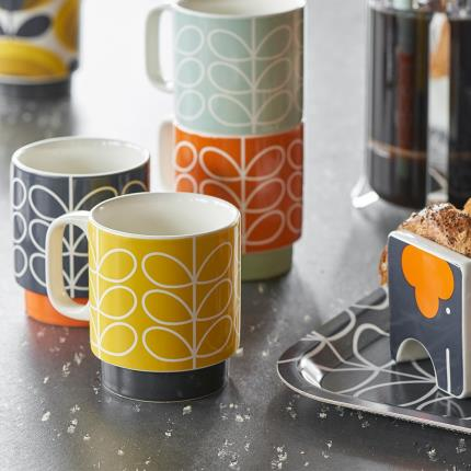 Gifts For Home - Orla Kiely Stacking Mugs - Image 4