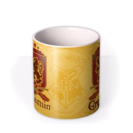 Mugs - Harry Potter Gryffindor Crest Personalised Mug - Image 3