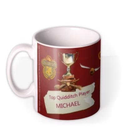 Mugs - Harry Potter Top Quidditch Player Personalised Mug - Image 1