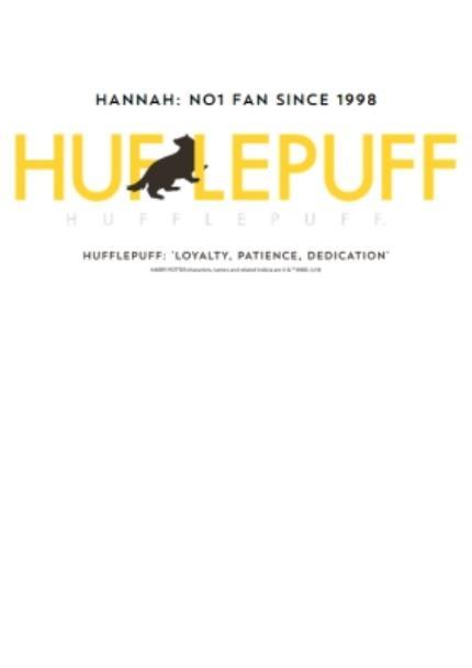 T-Shirts - Harry Potter Hufflepuff Personalised T-Shirt  - Image 4