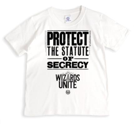 T-Shirts - Harry Potter Wizards Unite Protect The Statue Of Secrecy T-Shirt - Image 1