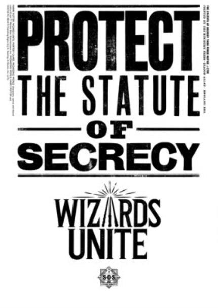 T-Shirts - Harry Potter Wizards Unite Protect The Statue Of Secrecy T-Shirt - Image 4