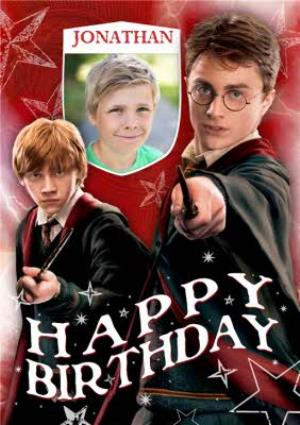 Greeting Cards - Harry Potter Personalised Name And Photo Upload Card - Image 1