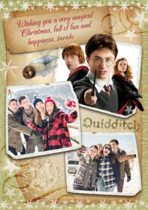 Greeting Cards - Harry Potter Wishing You A Magical Christmas Multi-Photo Card - Image 1