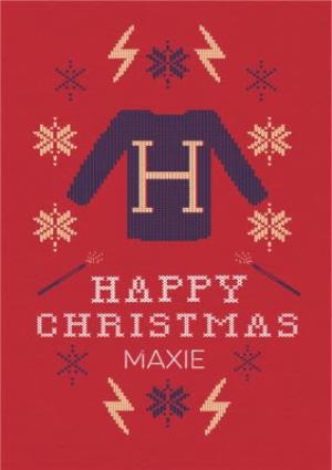 Greeting Cards - Harry Potter Christmas Jumper card - Happy Christmas - Image 1