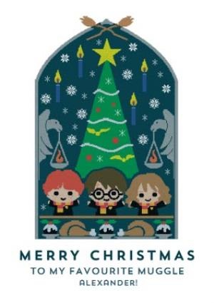 Greeting Cards - Harry Potter Merry Christmas to my favorite muggle - Christmas Jumper card - Image 1