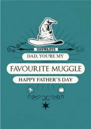 Greeting Cards - Harry Potter You Are My Favourite Muggle Happy Father's Day Card - Image 1