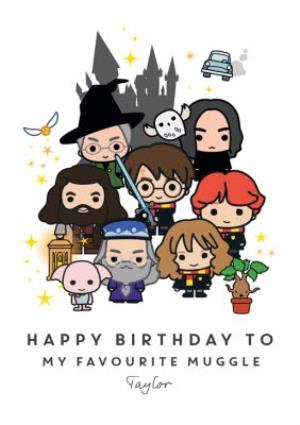Greeting Cards - Harry Potter Ron Weasley Hermione Granger favourite muggle Birthday Card - Image 1