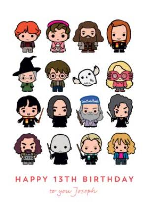 Greeting Cards - Harry Potter Ron Weasley Hermione Granger Luna Lovegood Dumbledore Hagrid Snape 13th Birthday Card - Image 1
