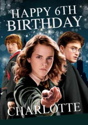 Greeting Cards - Harry Potter Ron Weasley Hermione Granger card - Magical 6th birthday card - Image 1